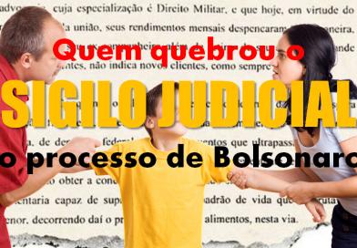 Quem quebrou o sigilo judicial do processo de Bolsonaro?