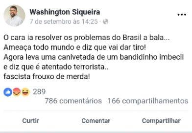 """Petista chama Bolsonaro de """"fascista frouxo de ?"""""""